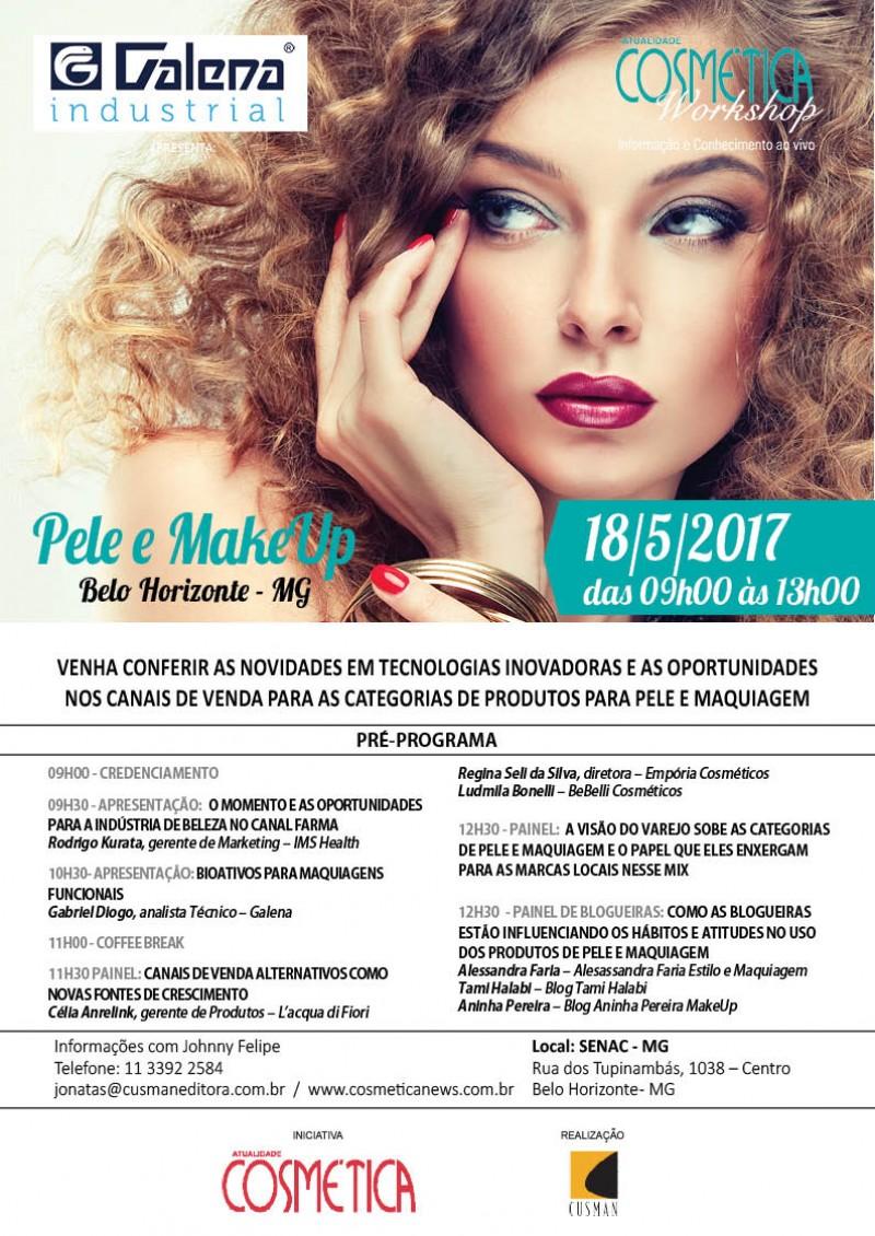 18 de maio, BH será palco de discussão do mercado sobre beleza brasileiro. Atualidade Cosmética Workshop.
