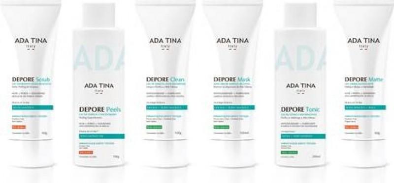 ADA TINA lança linha Depore para peles oleosas e acneicas