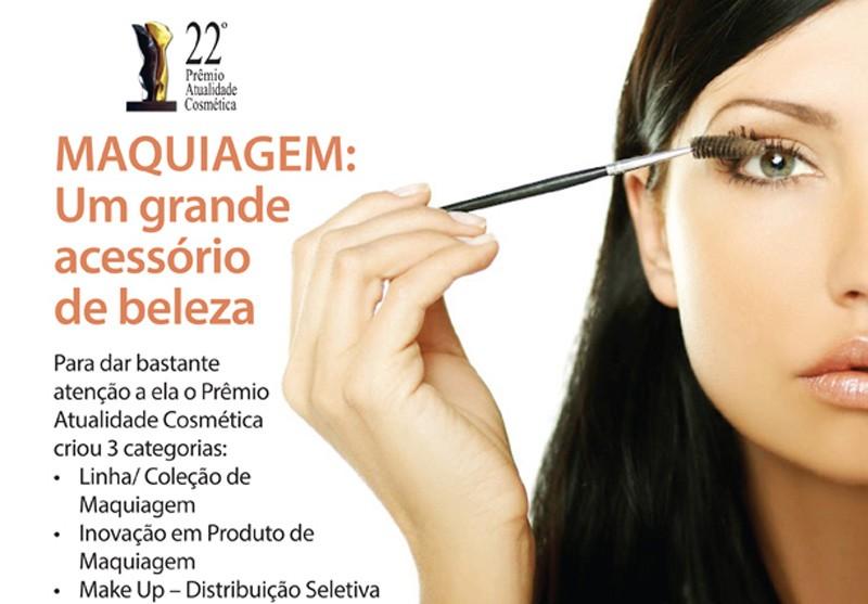 As linhas e produtos de Maquiagem finalistas do Pr�mio Atualidade Cosm�tica 2014