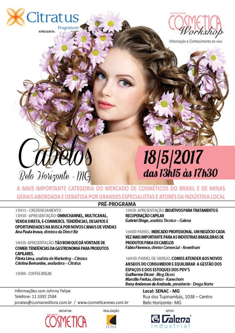 Atualidade Cosmética Workshop - Cabelos Belo Horizonte MG. 18 de maio.