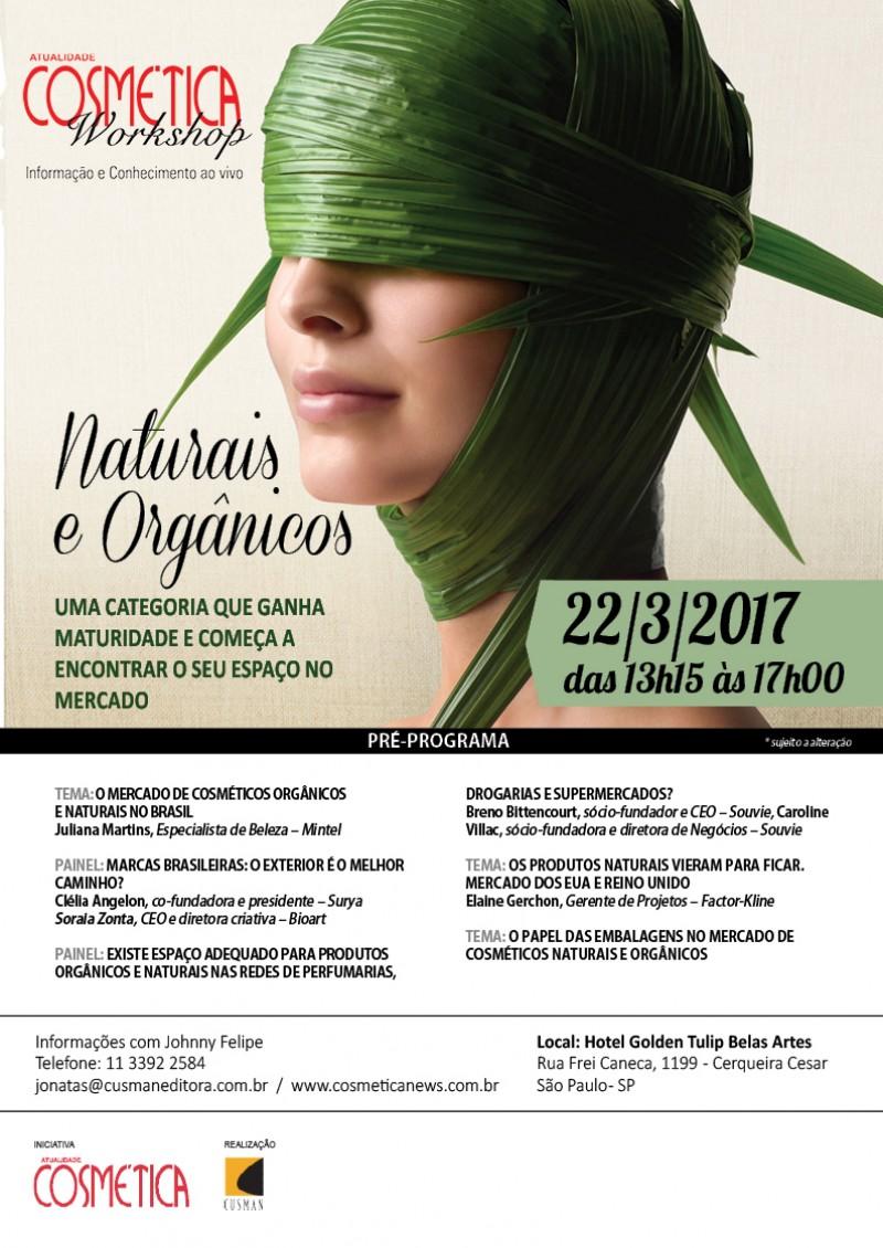 Atualidade Cosmética Workshop - Naturais e Orgânicos 22/03/2017