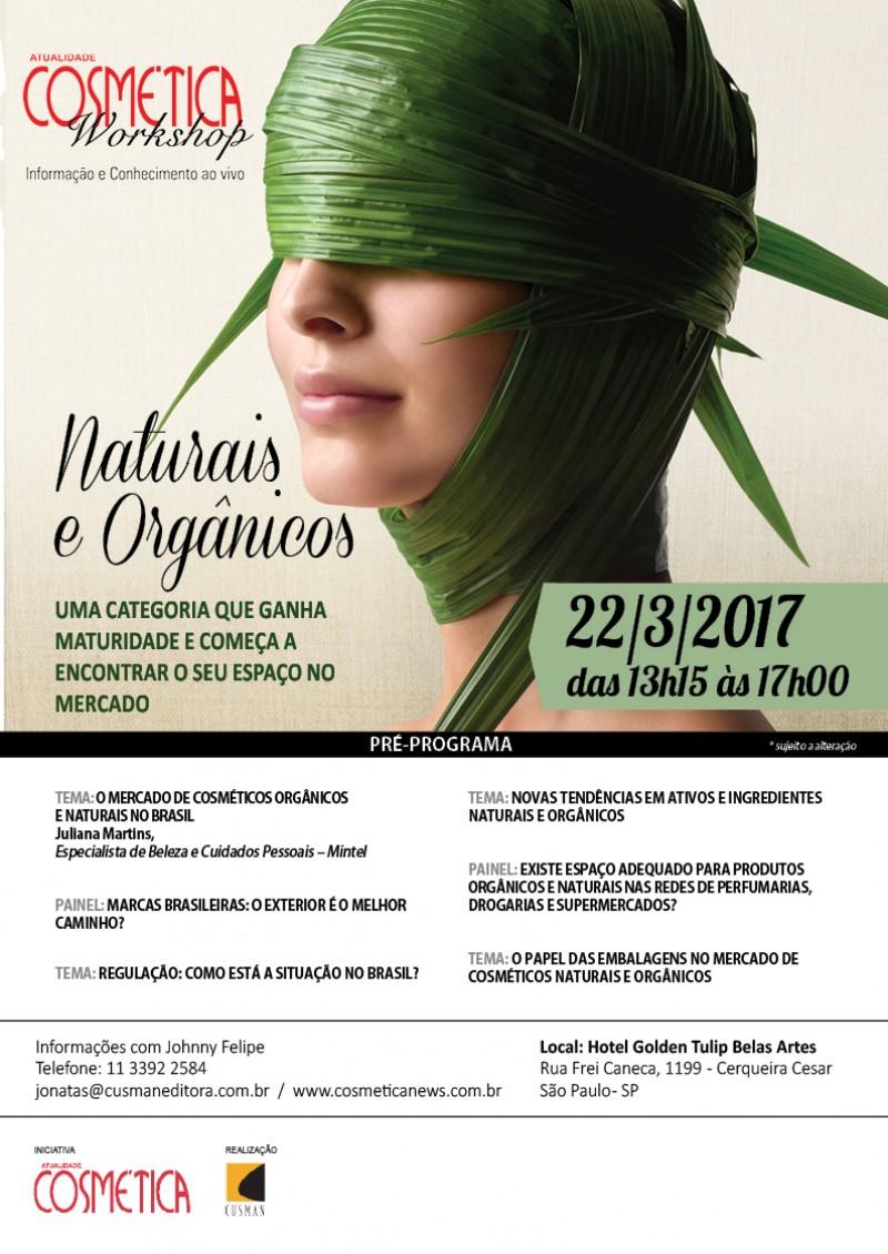Atualidade Cosmética Workshop - Naturais e Orgânicos