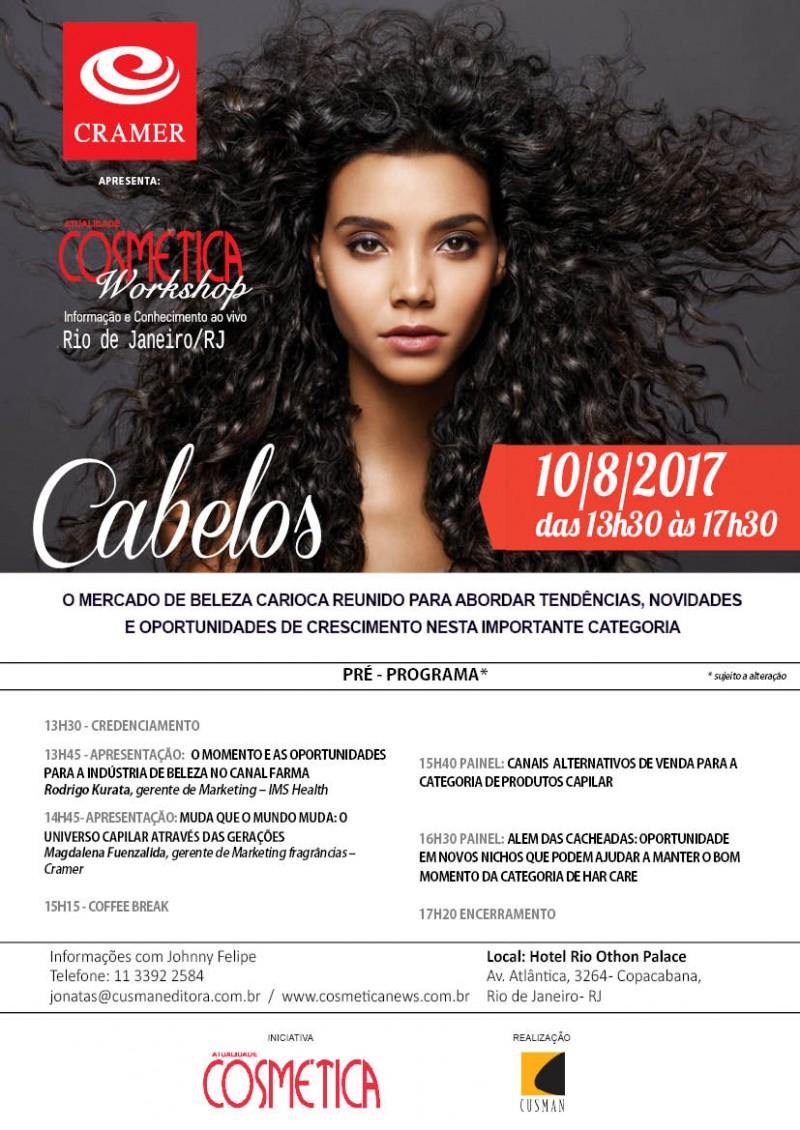 Atualidade Cosmética Workshop, Rio de Janeiro. Debatendo o mercado de produtos para os cabelos sobre diferentes ângulos. Dia 10 de agosto.
