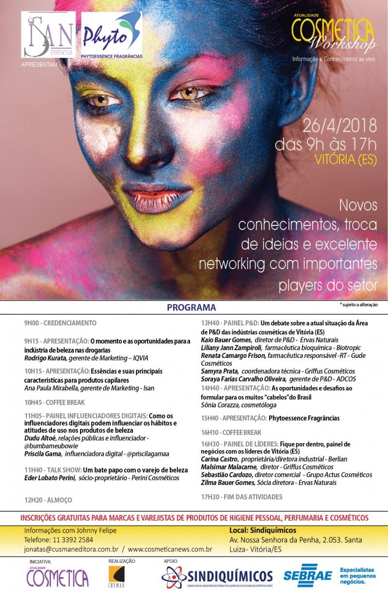 Atualidade Cosmética Workshop em Vitória (ES)