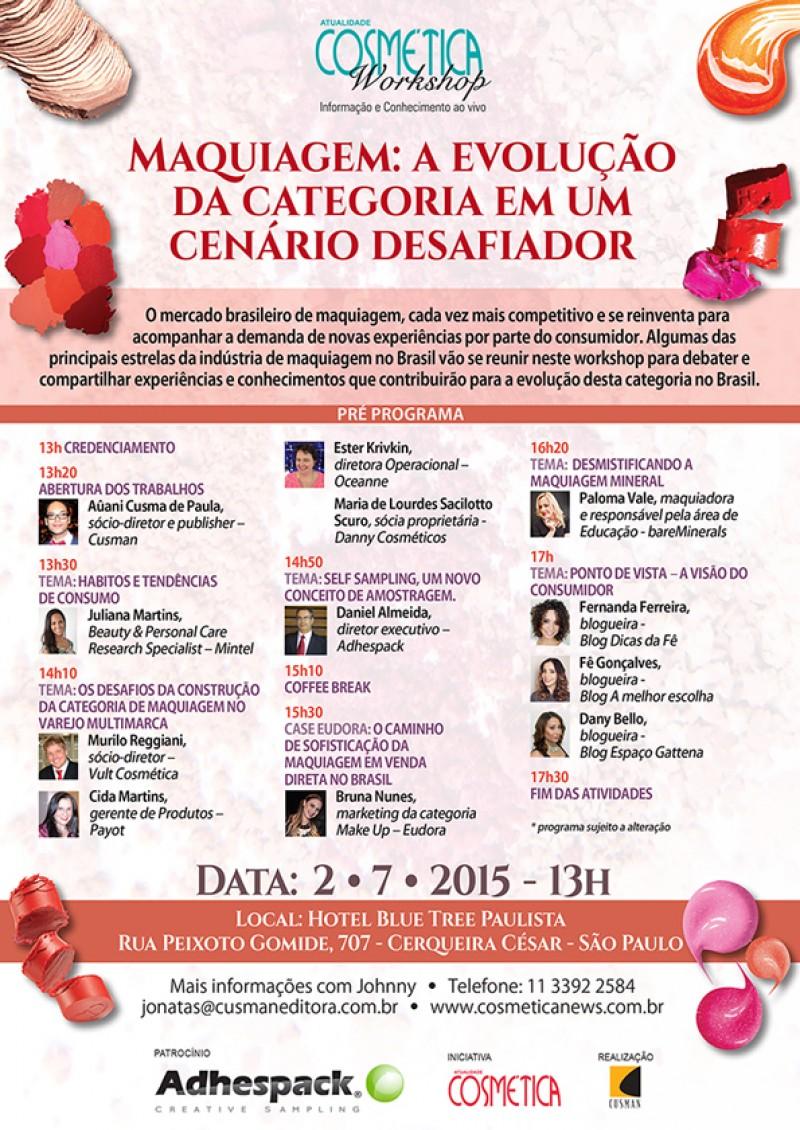 Atualidade Cosm�tica Workshop - Maquiagem