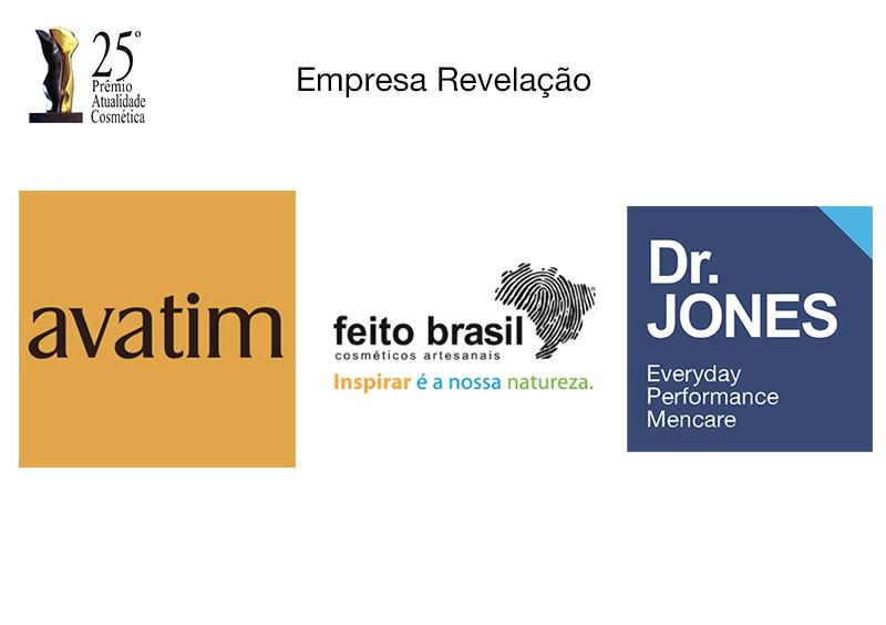 Avatim, Dr. Jones e Feito Brasil concorrem ao Troféu Atualidade Cosmética/Patrus de Empresa Revelação