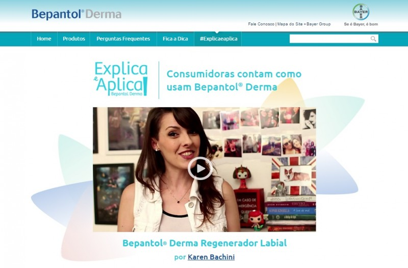 Bepantol Derma lan�a site interativo