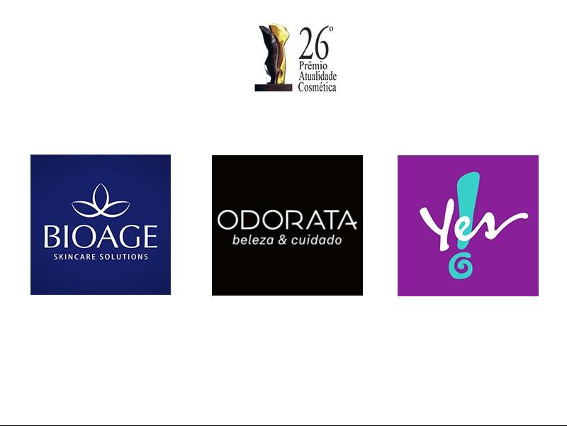 Bioage, Odorata e Yes! Cosmetics concorrem ao Troféu Atualidade Cosmética/Patrus de Empresa Revelação