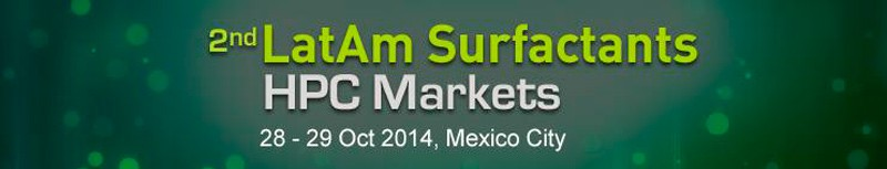 Cidade do M�xico recebe o 2� LATAM Surfactants Markets HPC