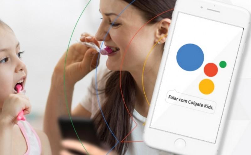 Colgate lança assistente de voz no Google para auxiliar na educação bucal das crianças