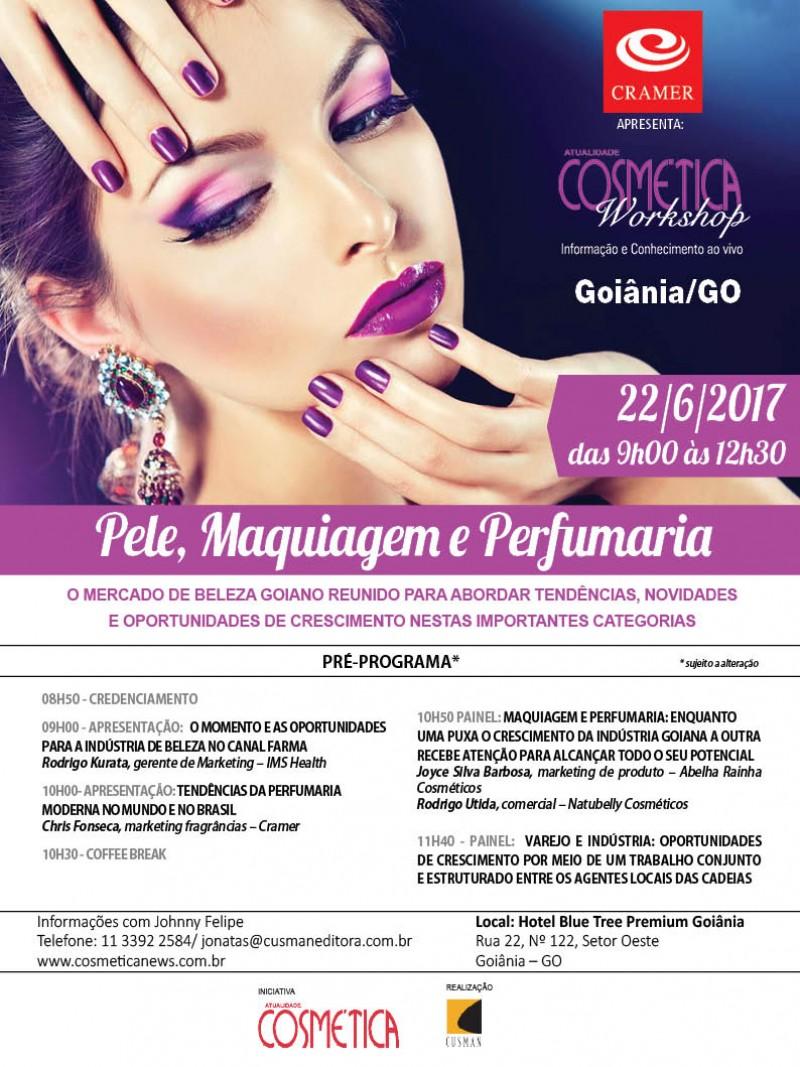 Dia 22 de junho, Goiânia será palco de grandes discussões sobre o mercado de beleza brasileiro. Atualidade Cosmética Workshop.