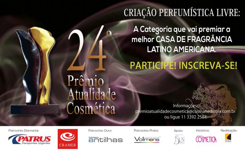 Inscrições para nova categoria do Prêmio Atualidade Cosmética estão abertas