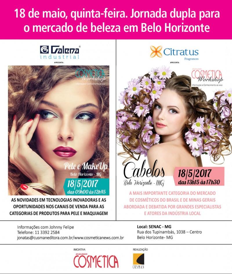 Jornada dupla para o mercado de beleza em Belo Horizonte. 18 de Maio.