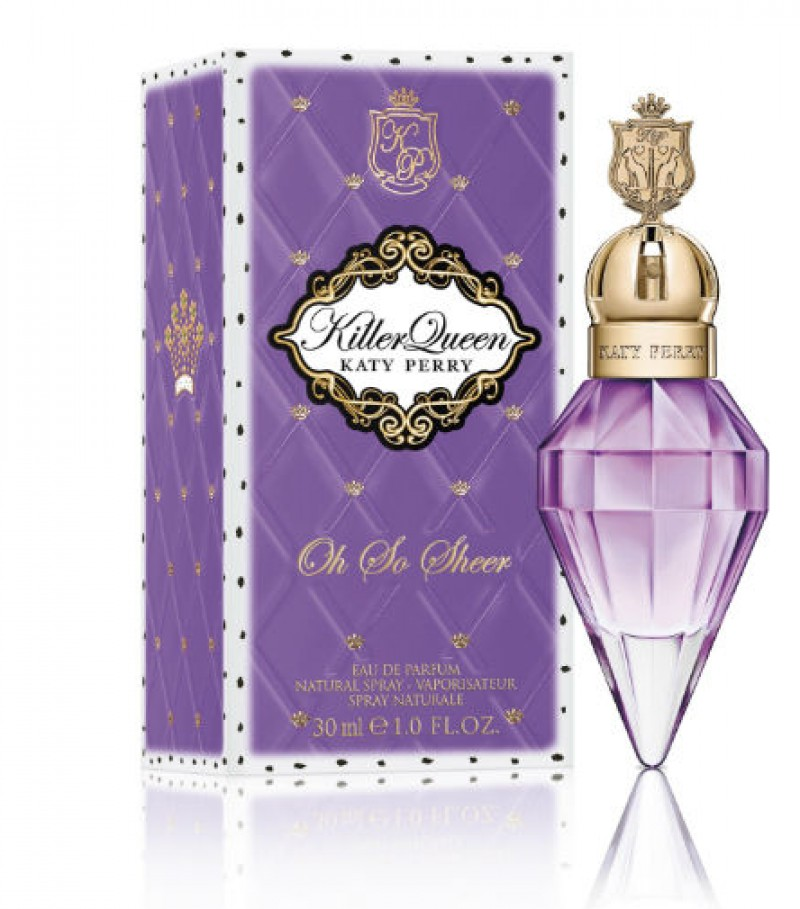 Katy Perry lan�a fragr�ncia Killer Queen Oh So Sheer em edi��o limitada