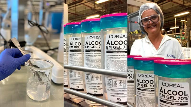 L'Oréal Brasil vai doar mais de 750 mil unidades de álcool gel e produtos de higiene para hospitais e comunidades