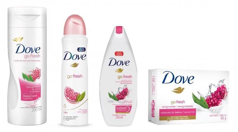Linha Go Fresh, de Dove, ganha fragrância Romã e Verbena