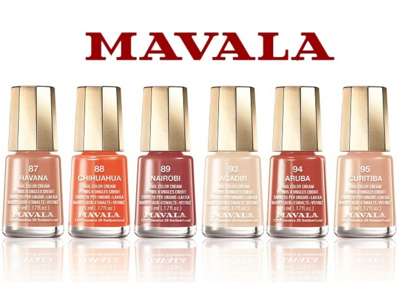 Mavala lança linha de esmaltes com tons quentes para o verão