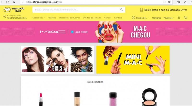 Mercado Livre anuncia chegada da loja oficial da M.A.C Cosmetics ao seu marketplace