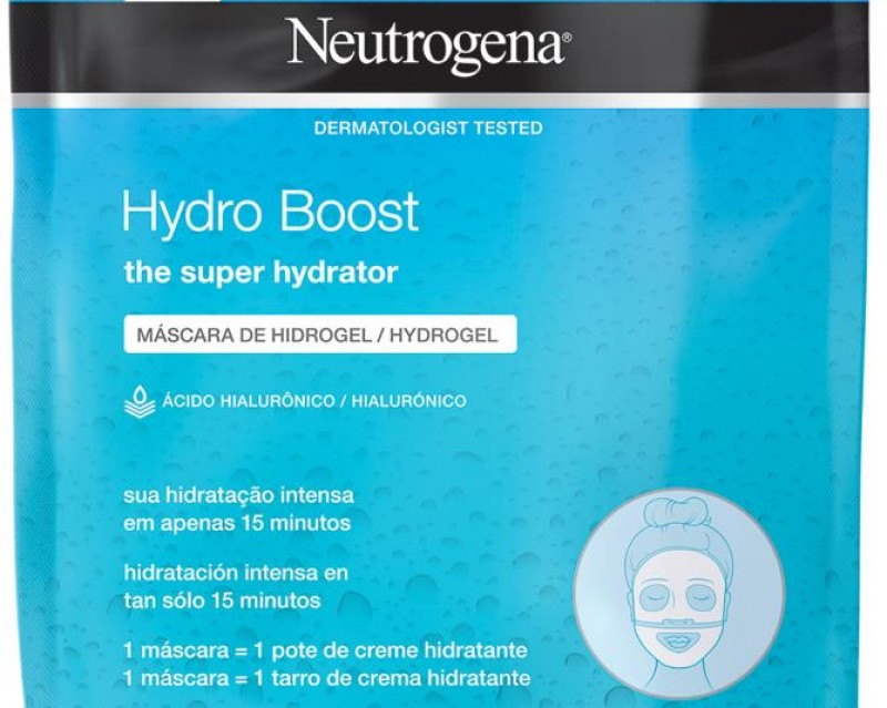 Neutrogena lança máscaras faciais com inovadora tecnologia hidrogel