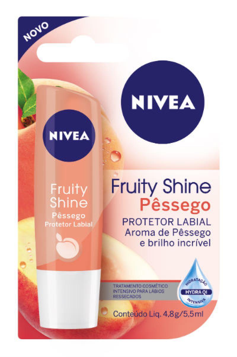 NIVEA lan�a protetor labial Fruity Shine P�ssego