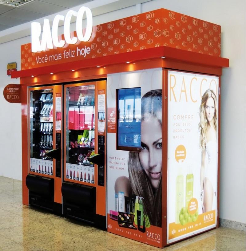 Racco inaugura sua primeira vending machine