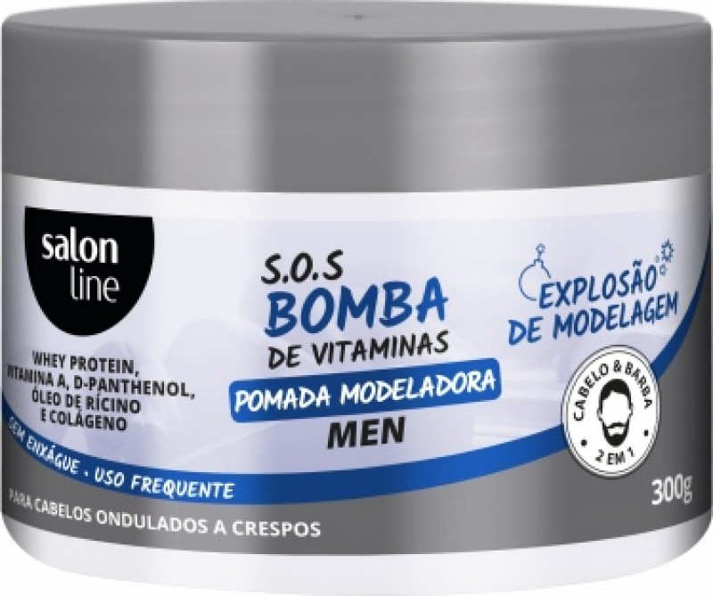 Salon Line apresenta a POMADA MODELADORA MEN