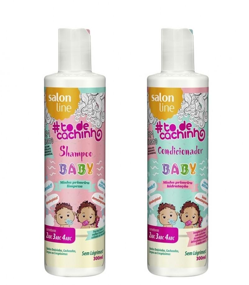 Salon Line lança linha de para cabelos de bebês cacheados