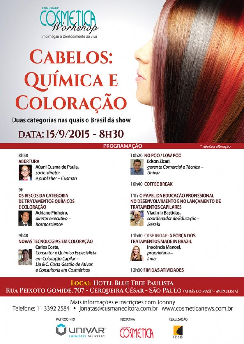 SAVE THE DATE - ATUALIDADE COSM�TICA WORKSHOP - CABELOS - QU�MICA E COLORA��O