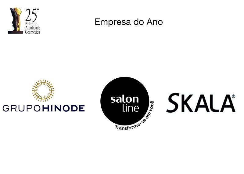 Skala, Salon Line e Hinode. Prêmio Atualidade Cosmética divulga os finalistas da categoria Empresa do Ano