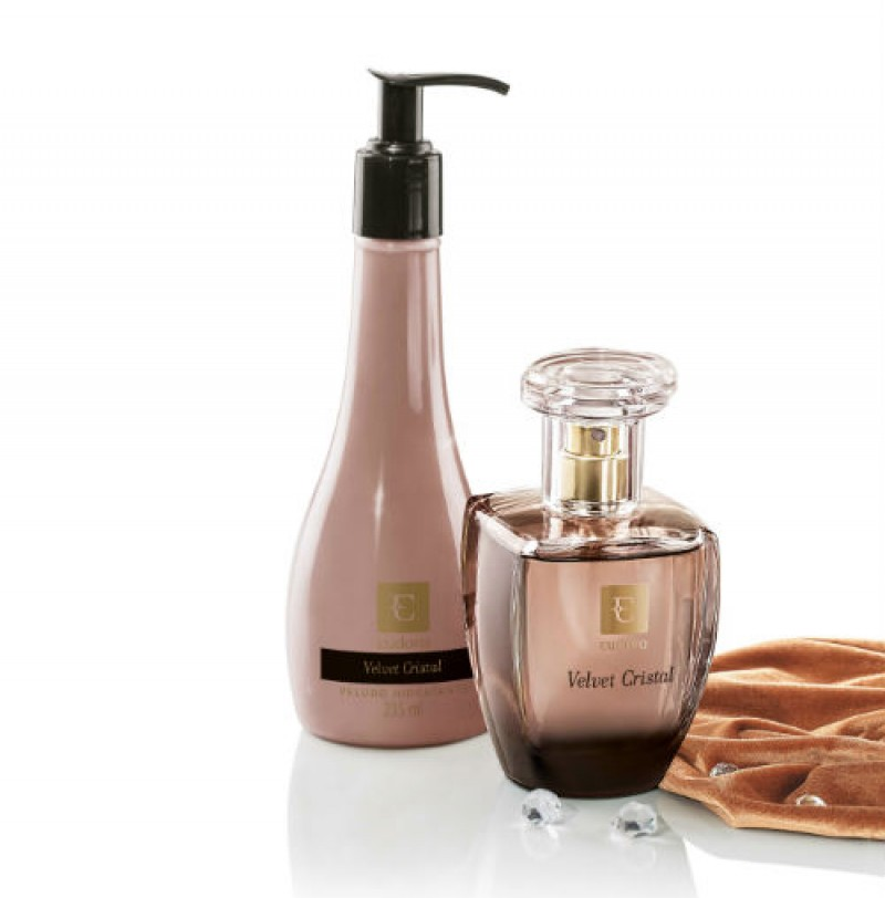 Velvet Cristal lançamento de Perfumaria Luxuosa de Eudora