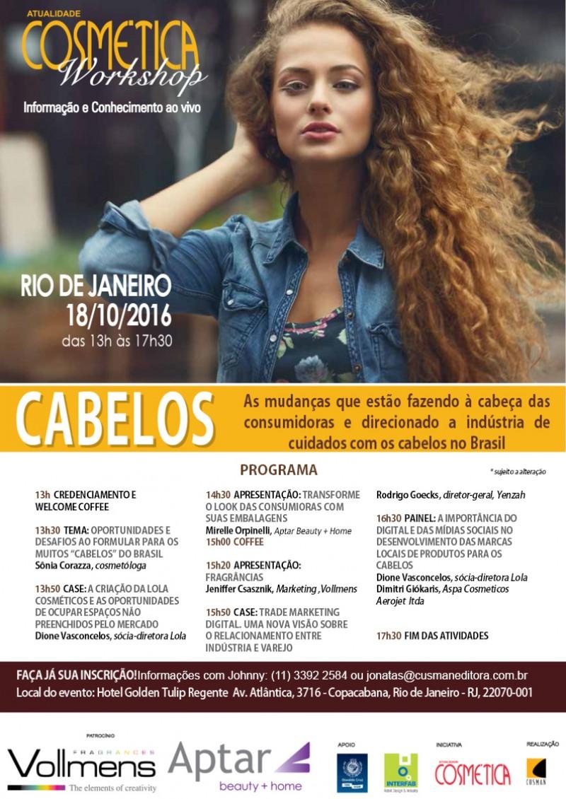 Workshop Atualidade Cosm�tica - Cabelos edi��o Rio de Janeiro