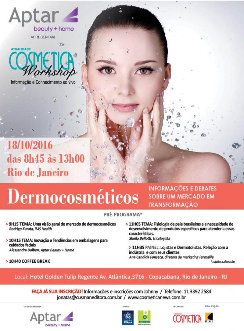 Workshop Atualidade Cosm�tica - Dermocosm�ticos Rio de Janeiro