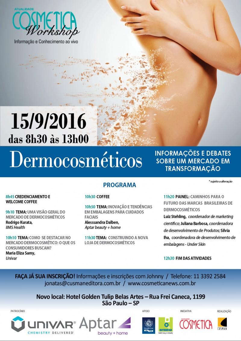 Workshop Atualidade Cosmética - Dermocosméticos São Paulo