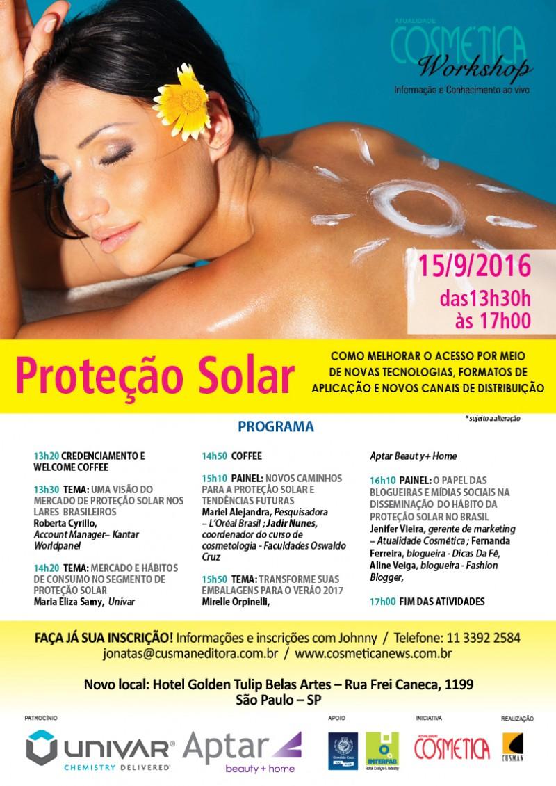 Workshop Atualidade Cosmética - Proteção Solar SP